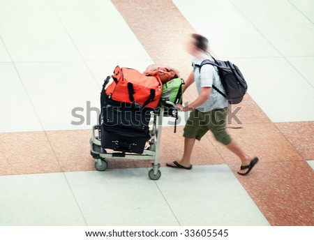 Airport passenger - stock photo