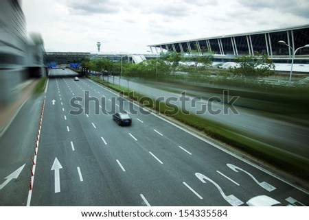 Airport Road - stock photo