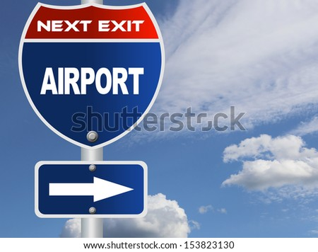 Airport road sign
