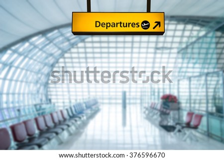 Airport sign departure and arrival board - stock photo