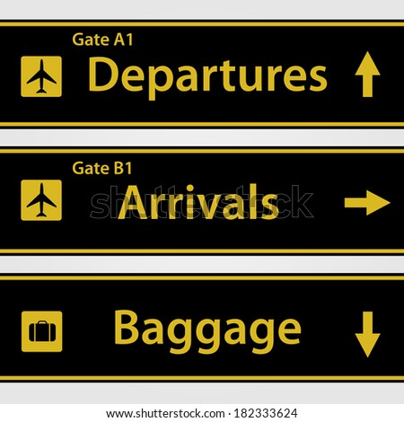 Airport Signs. EPS available in portfolio - stock photo
