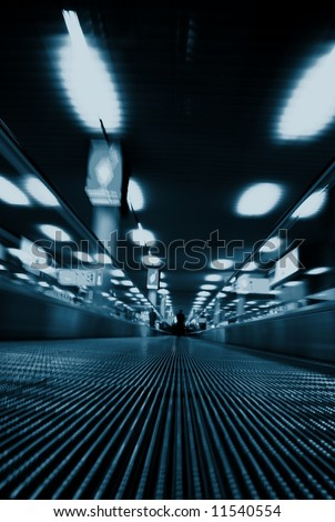 Airport Transition blurred abstract - stock photo