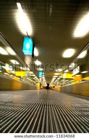 Airport Transition blurred abstract