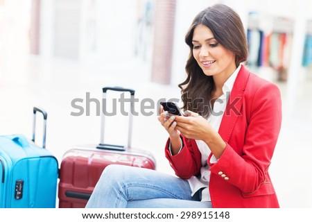 Airport, travel, traveler. - stock photo