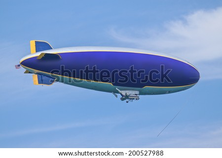 airship - stock photo