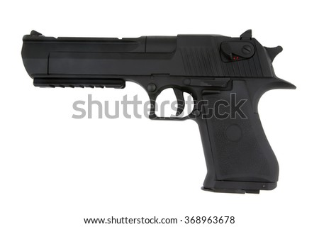 Airsoft pistol isolated on the  white background. - stock photo