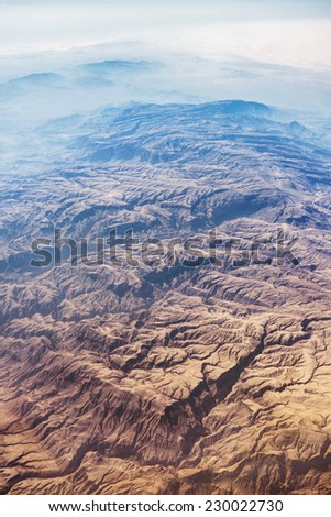 Airview of the desert