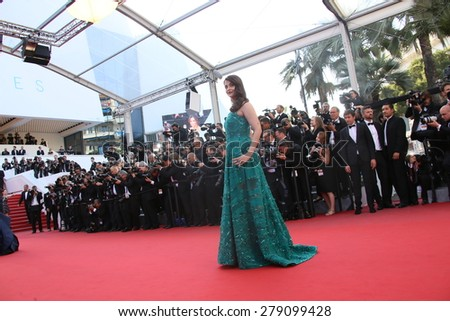 Aishwarya Rai  attends the 'Carol' Premiere during the 68th annual Cannes Film Festival on May 17, 2015 in Cannes, France. - stock photo