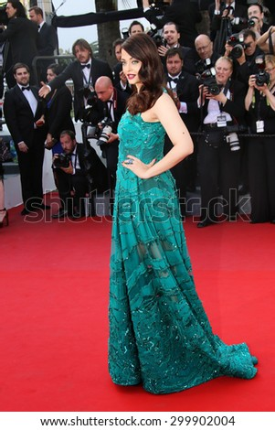 Aishwarya Rai Bachchan attends the 'Carol' Premiere during the 68th annual Cannes Film Festival on May 17, 2015 in Cannes, France. - stock photo