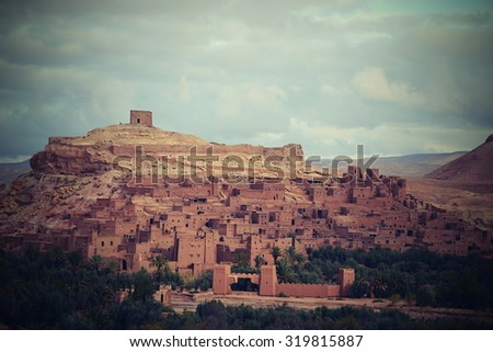 ait ben haddou in morocco - protected by UNESCO