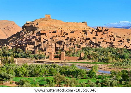 Ait-Ben-Haddou Kasbah in Morocco, Africa. Was built in 11th. UNESCO World Heritage Site. Jesus of Nazareth, The Mummy, Gladiator, Alexander, Prince of Persia and others films have been shot there.