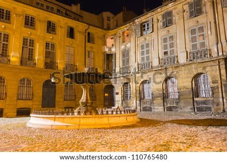 Aix-en-Provence - Place d'Albertas - stock photo