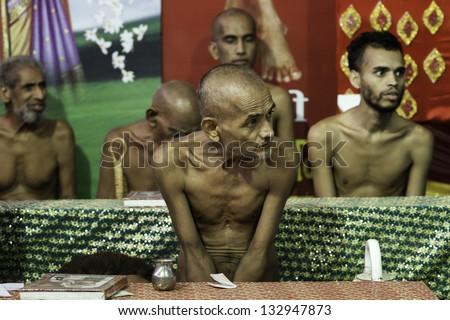 Digambara Monks Digambara Stock Images...