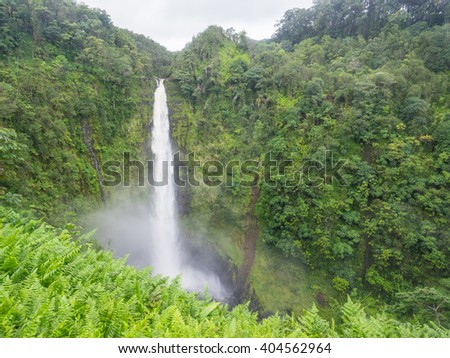 Akaka Falls State Park is a state park on Hawaii Island. - stock photo