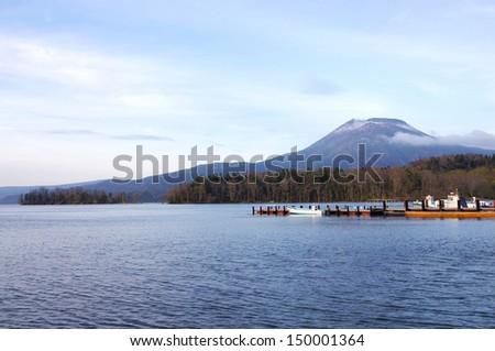 Akan Lake, located at Hokkaido Japan - stock photo