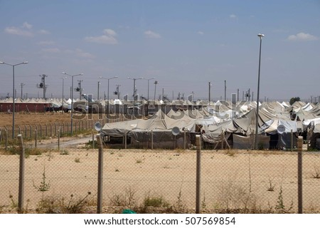Akcakale Syrian  refugee camp near the Syrian border,  in Southeastern Turkey, June 2014