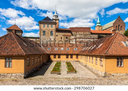 Akershus fortress and castle in Oslo, Norway.