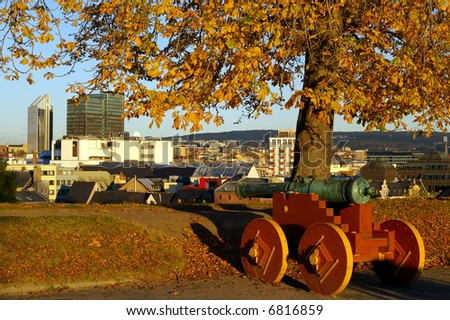 Akershus fortress in Oslo - stock photo