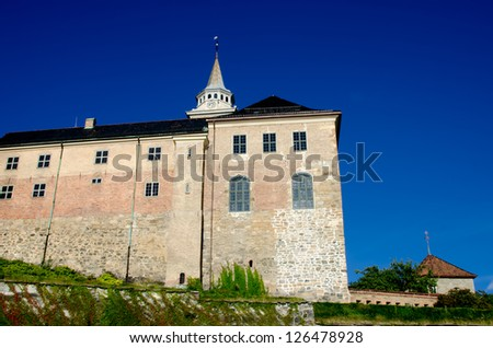 Akershus Fortress, Oslo, Norway - stock photo