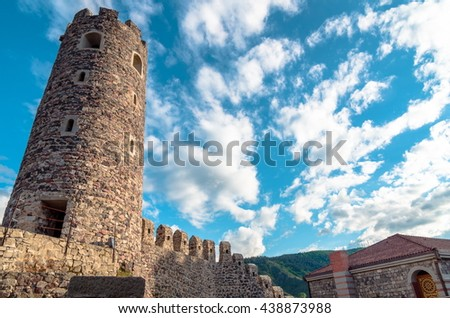 Akhaltsikhe, Georgia - May 21, 2016 :Rabat Castle complex in Georgia - stock photo