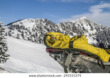 Akija -  Ski rescue sled in Spitzingsee - stock photo