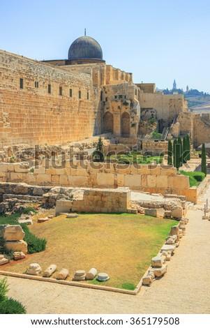 Al-Aqsa Mosque of Omar - stock photo