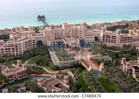 Al Qasr Palace Madinat Jumeirah In Dubai - stock photo