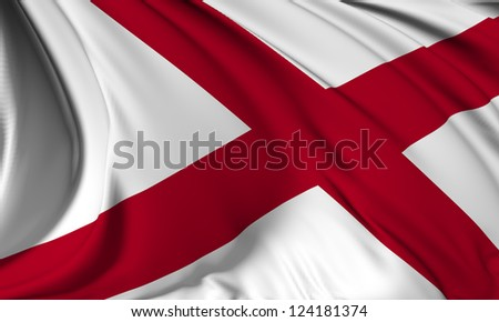 Alabama flag - USA state flags collection no_3 - stock photo