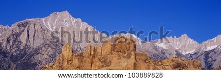 Alabama Hills in Sierra Nevada Mountains, California - stock photo