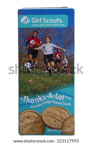 girl scout cookies stock images royalty free images