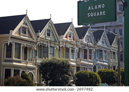 Alamo Square (San Francisco) - stock photo