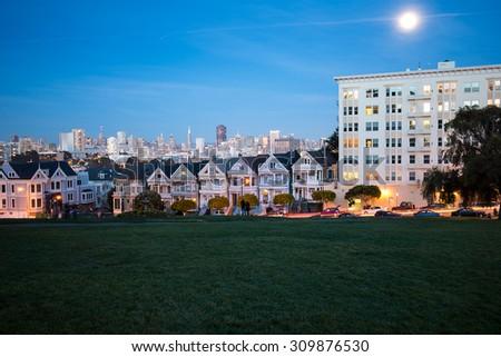 Alamo Square, San Francisco - stock photo