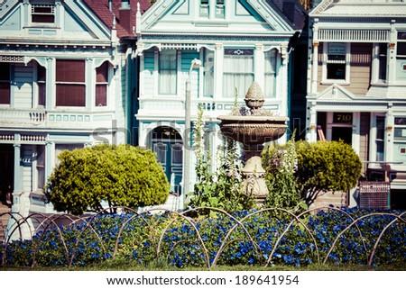 Alamo Square, San Francisco, USA - stock photo