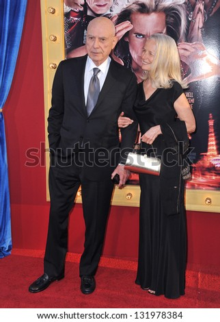 """Alan Arkin & wife at the world premiere of his movie """"The Incredible Burt Wonderstone"""" at the Chinese Theatre, Hollywood. March 11, 2013  Los Angeles, CA Picture: Paul Smith - stock photo"""