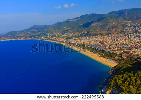 Alanya Castle, Viewing point Cleopatra's beach  - stock photo