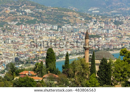 Alanya city view. Turkey.