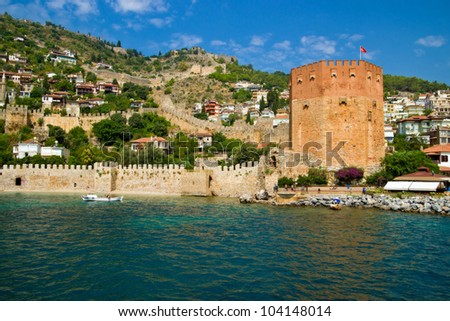Alanya. The old fortress. - stock photo