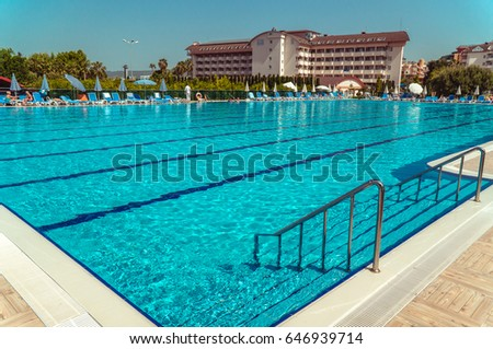 alanya turkey may 5 2017 big olympic swimming pool in the