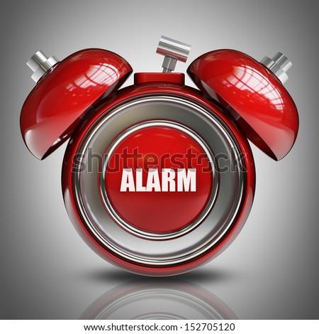 alarm bell. High resolution 3d render  - stock photo