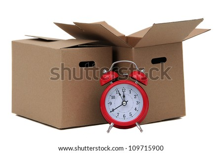 Alarm bell with two removal box - stock photo