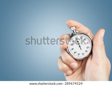 Alarm, chronograph, chronometer. - stock photo