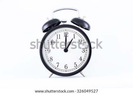 alarm clock, a white background