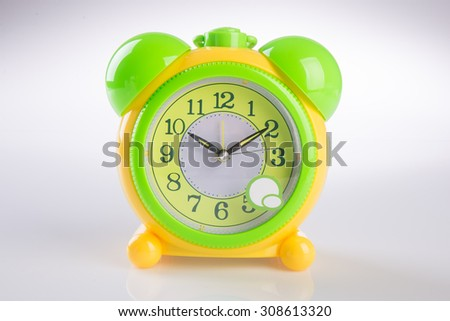 alarm clock. alarm clock on background. - stock photo