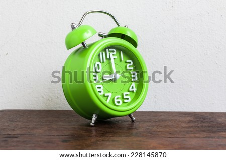 Alarm Clock at 9 O'clock - stock photo