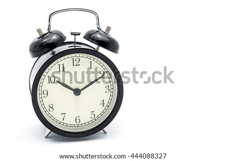 Alarm clock at Ten o'clock ten minute