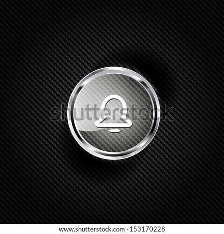 alarm clock icon - stock photo