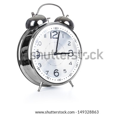 Alarm clock, isolated on white background