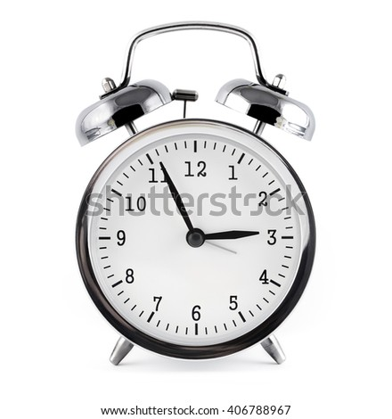 alarm clock, isolated on white background.