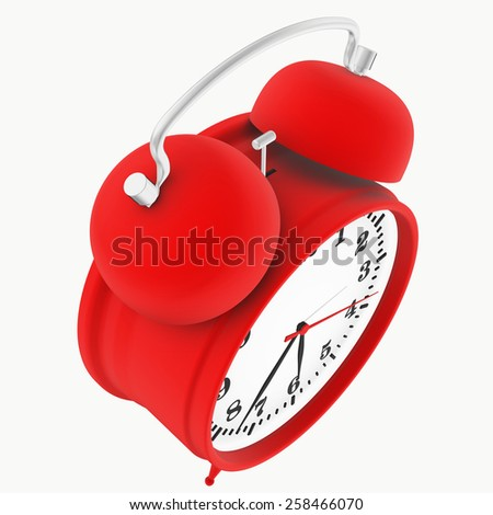 alarm clock isolated on white background. 3d render - stock photo