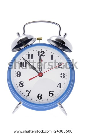 Alarm Clock on Isolated White Background